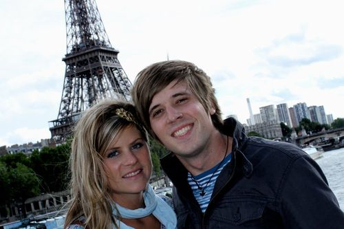 Micah and Jessica at Eiffle Tower