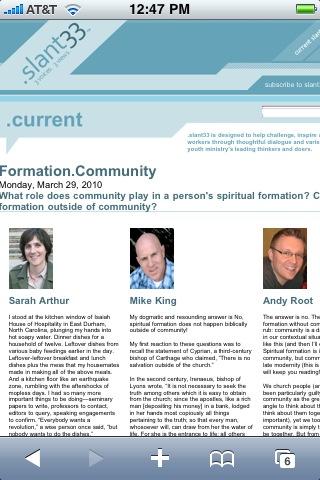Slant33 community formation