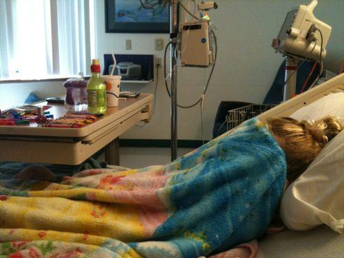 Lexi in hospital